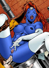 Horny Mystique screaming