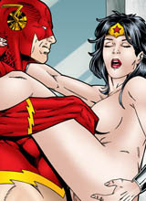 Flash fuck naked Wonder Woman
