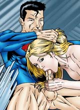 Sexy Supergirl blowjobs Superman